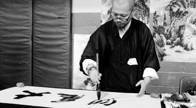 Golden Eagle Institute Zen painting classes at the school April 8, 2014.