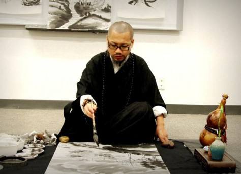 Yixiong Gu artists to demo Zen brush painting