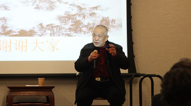 "Mr. Zhang Zhimin gave  a speech entitled ""Characteristics of Chinese Painting"""