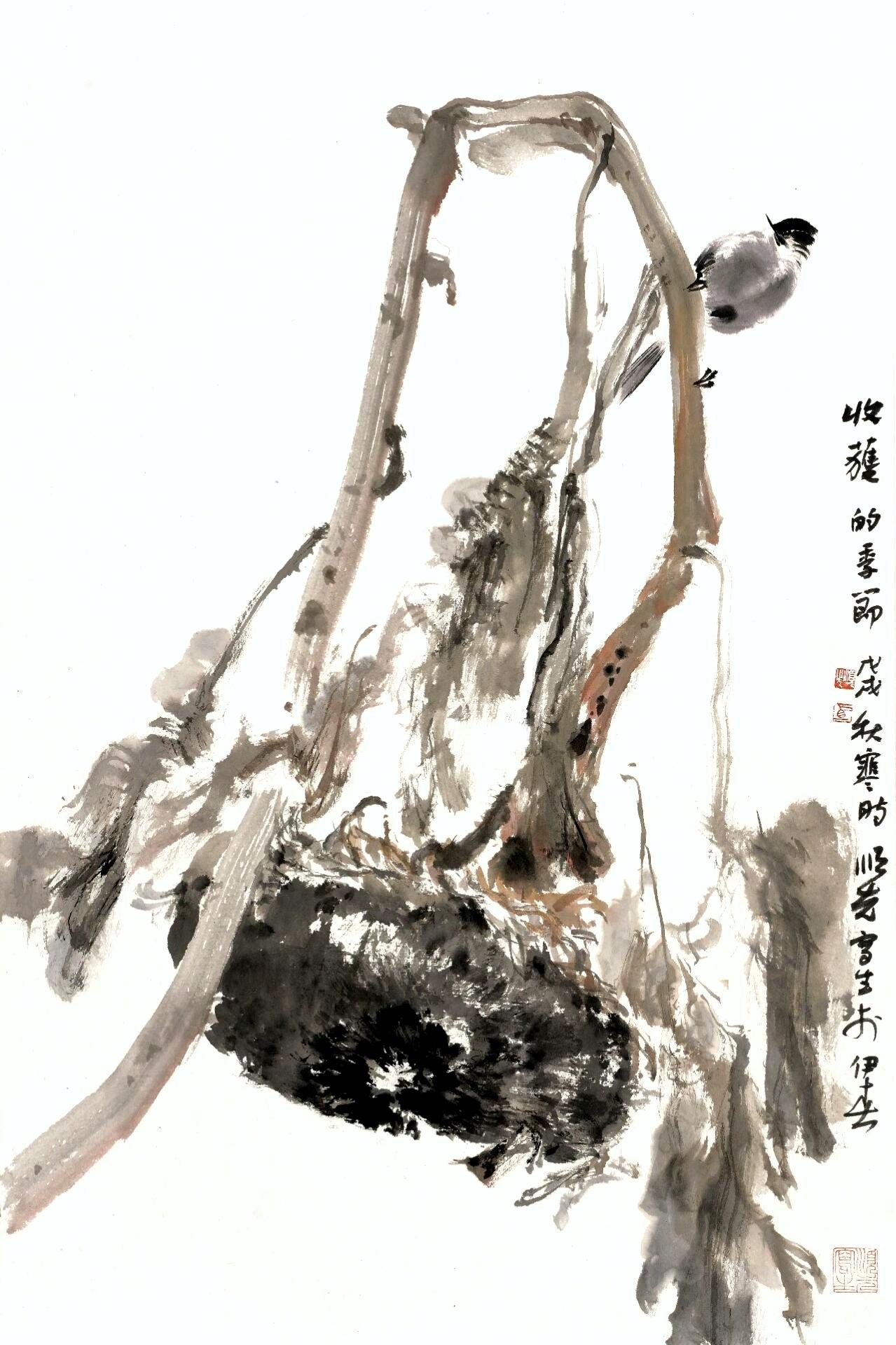 Brush painting by Shunxian Ma