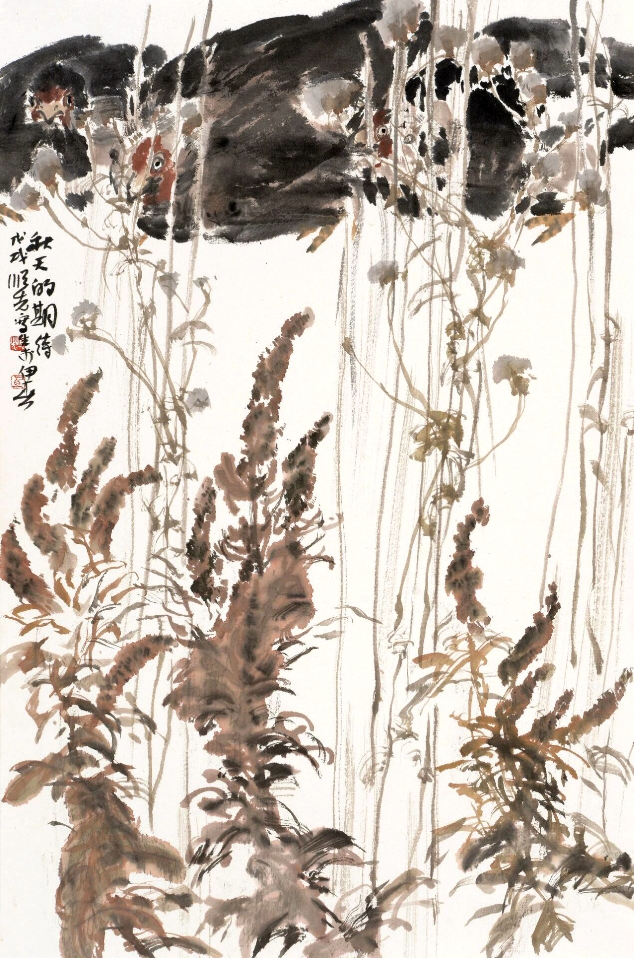 Brush painting by Shunxian Ma